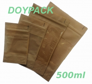 Doypack Papierowy 130x70x225mm 500ml Coffee Service